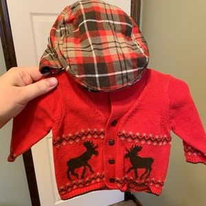 Sweater and hat from Janie Jack